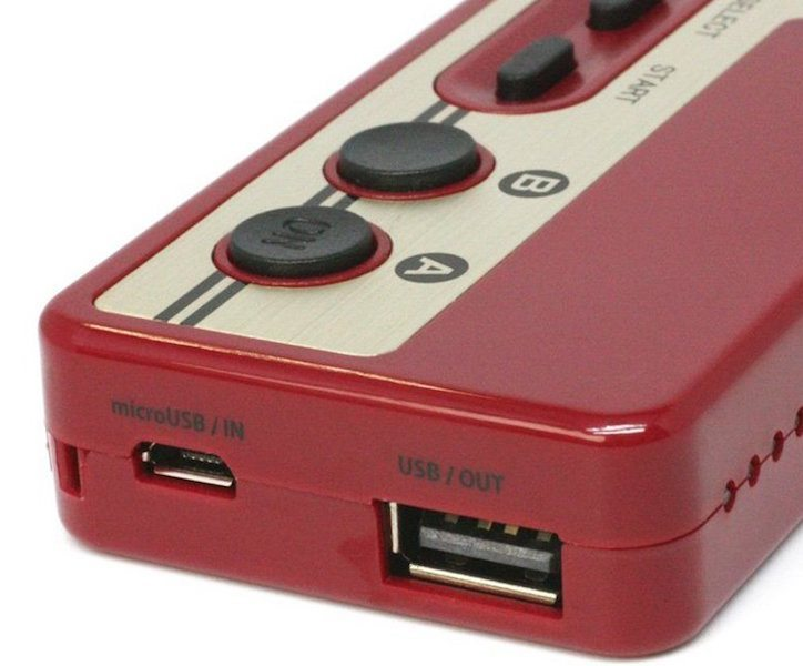 Retro Nintendo Famicom Battery & Card Reader