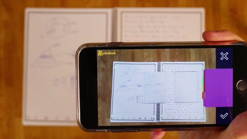 The Rocketbook Notepad Digitizes Instantly, Can Be Reused After Heating