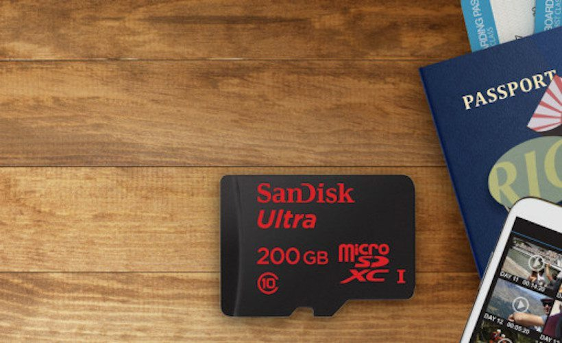 Ultra 200GB Micro SD by SanDisk