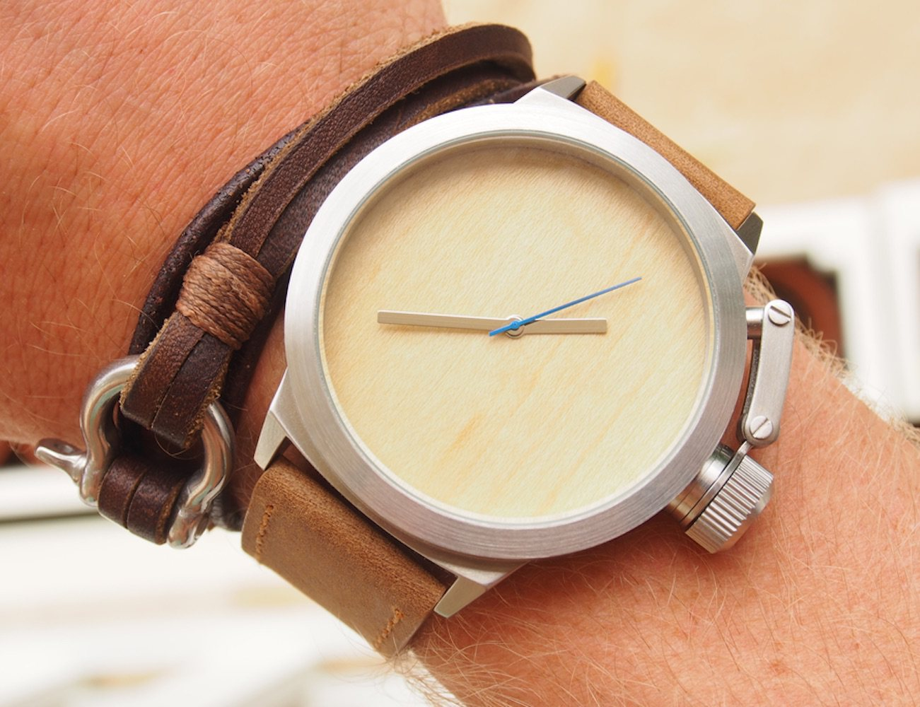 Seaval Wood/Steel Watches
