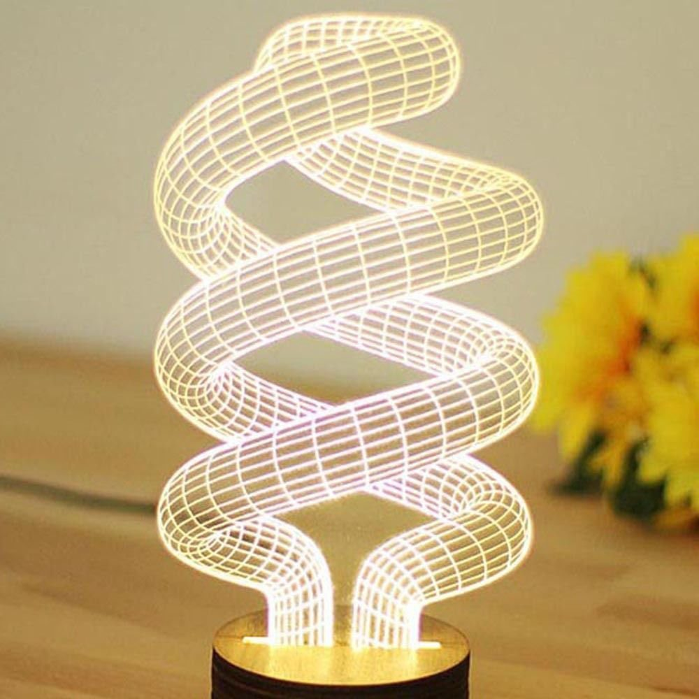 Spiral Bulbing Optical Illusion LED Lamp