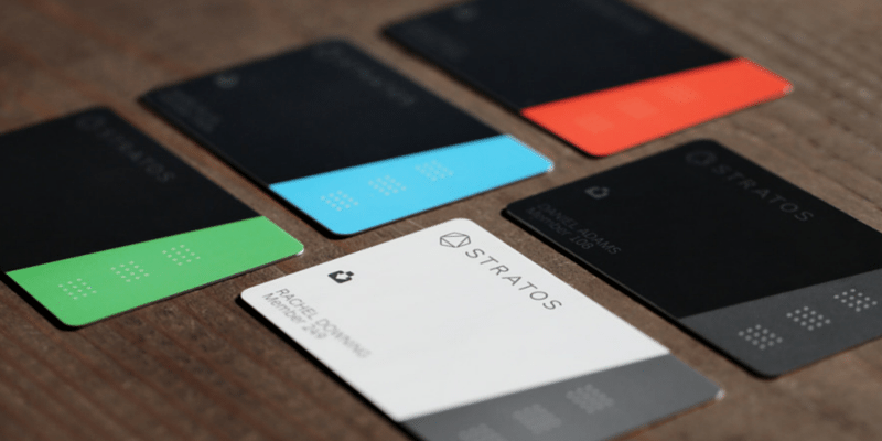 Stratos Card in 5 colors