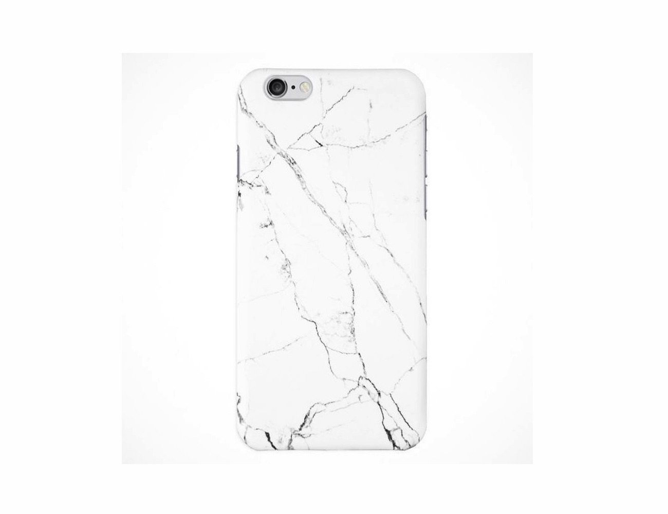 White Marble iPhone 6 Plus Case by Queu Queu