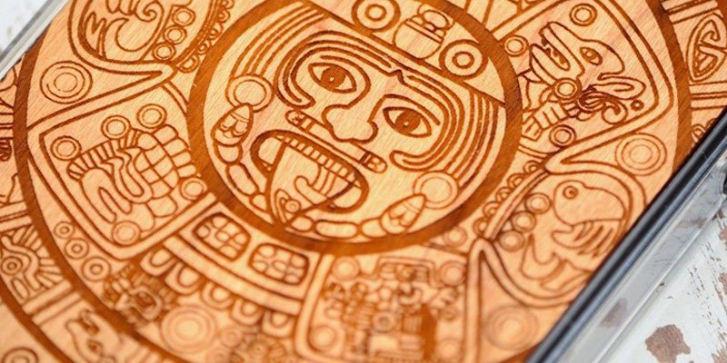 Aztec Calendar iPhone 5 Case by Carved