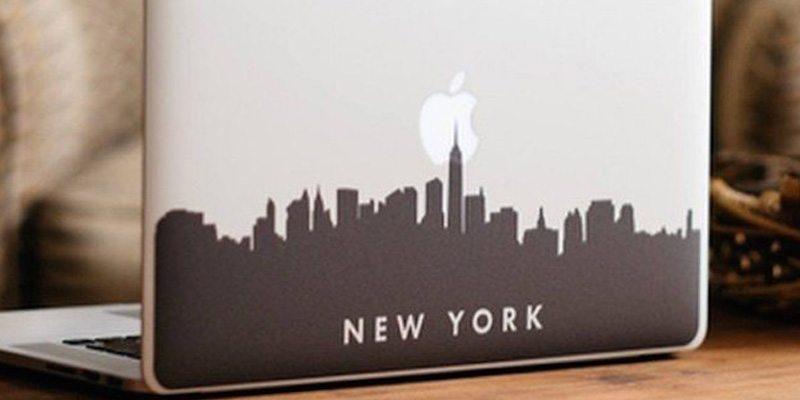 New York City Skyline Macbook Decal