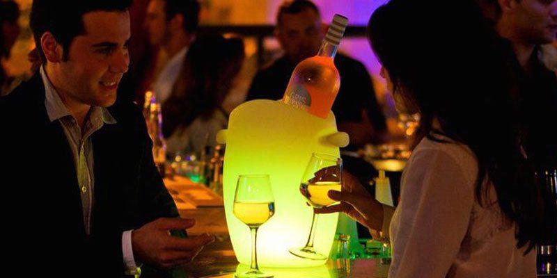 Fresh! LED Wine Cooler