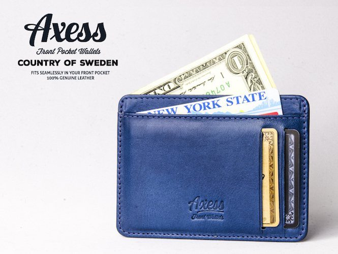 Axess: Front Pocket Wallets in Italian Leather