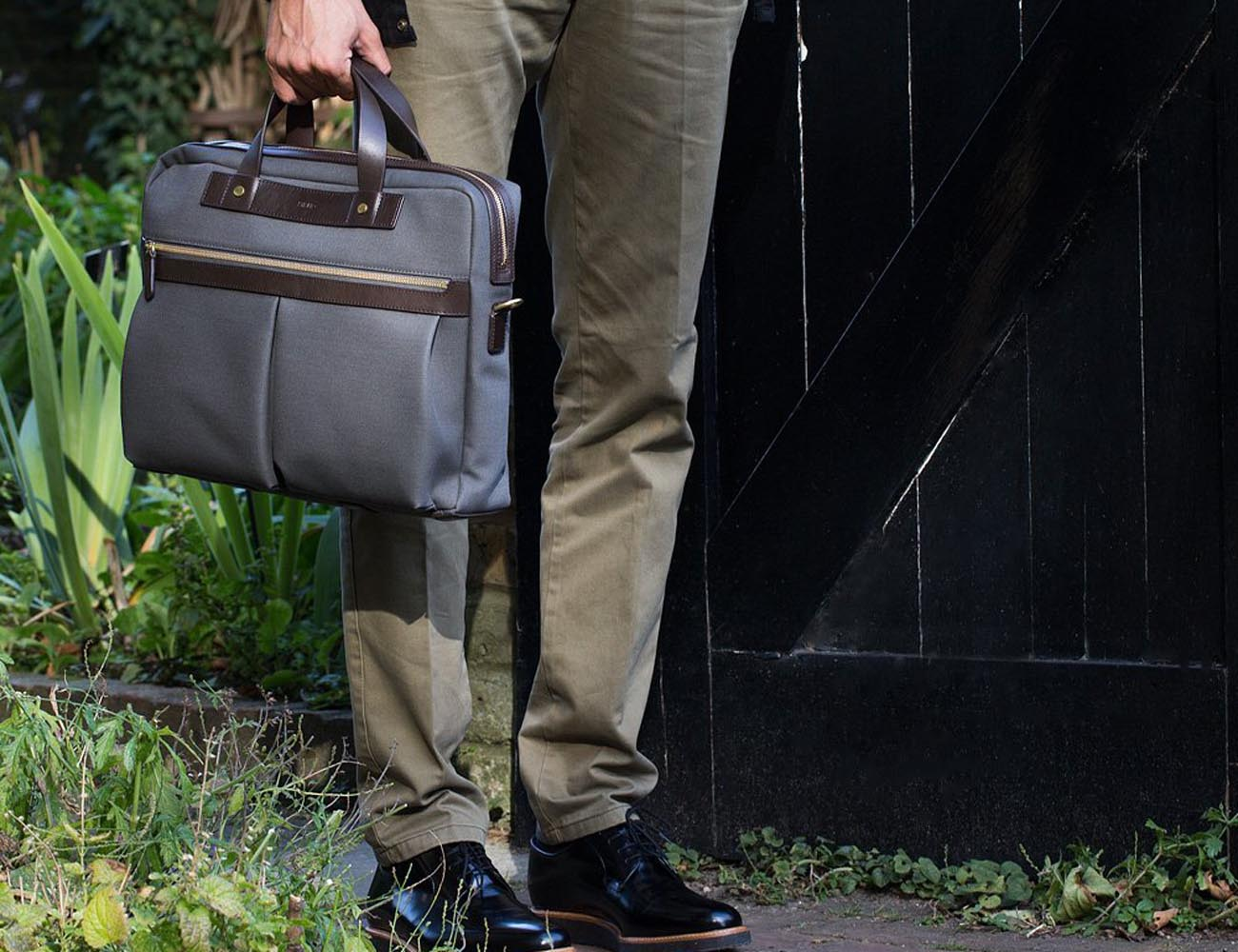 Charcoal Black MS Office Briefcase by Mismo