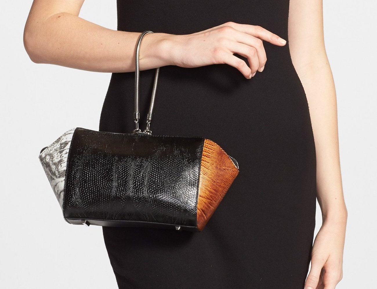 Chastity Lizard Embossed Clutch by Alexander Wang