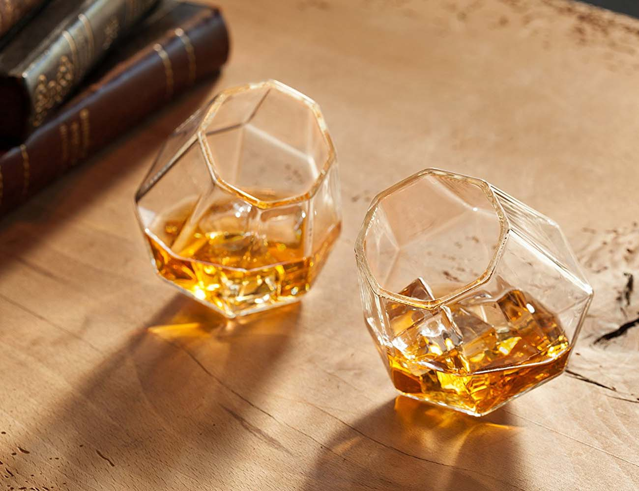 Diamond Whiskey Glasses