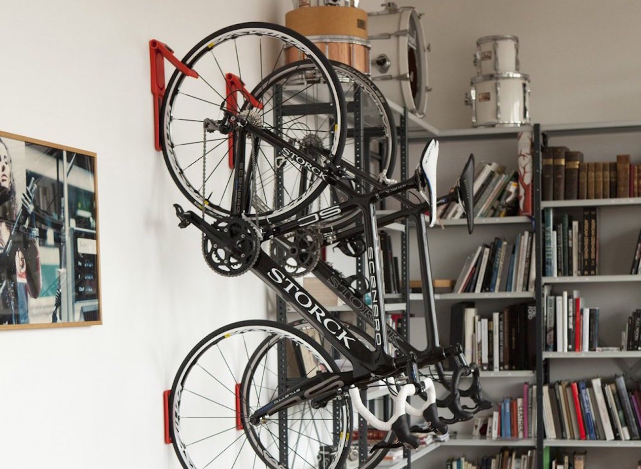 Endo Fold Flat Vertical Bike Storage System By Cycloc Gadget Flow
