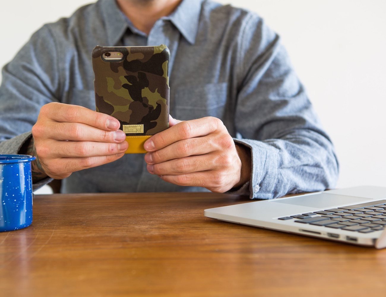 Focus iPhone 6 Camo Leather Case by HEX