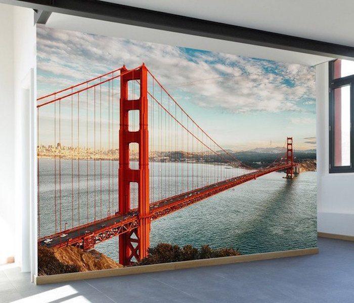 Golden gate bridge wall mural decal review for Bridge wall mural