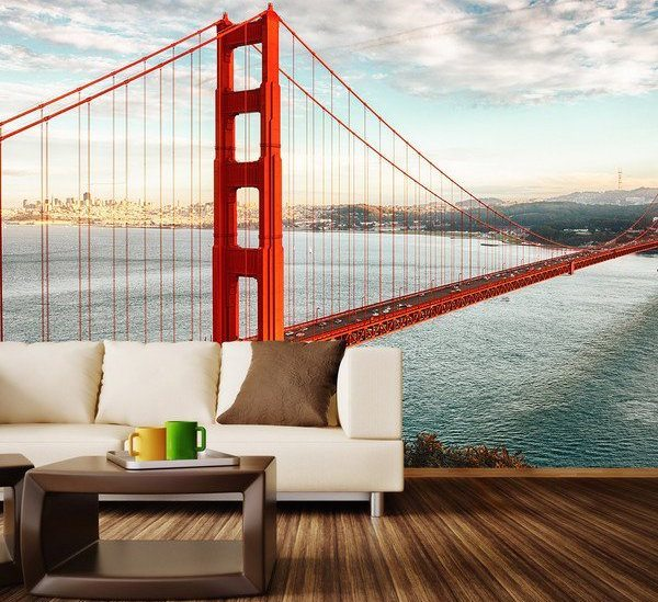 New  Golden Gate Bridge Wall Mural Decal