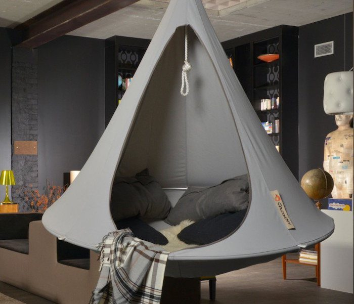 Grey Double Hanging Cacoon loading=