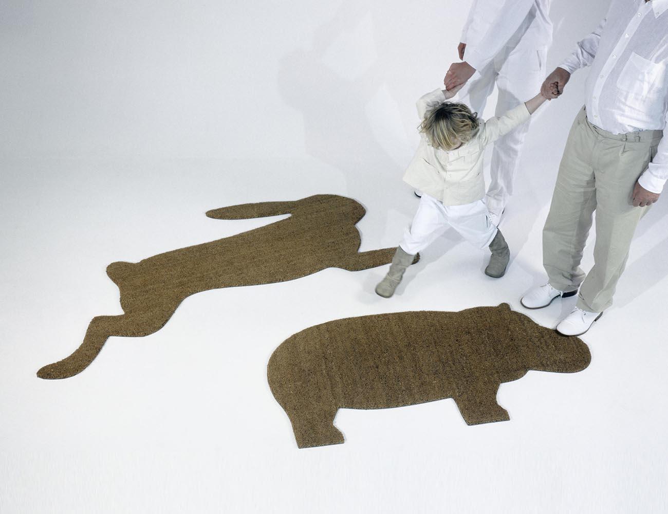 Hare Doormat by Droog