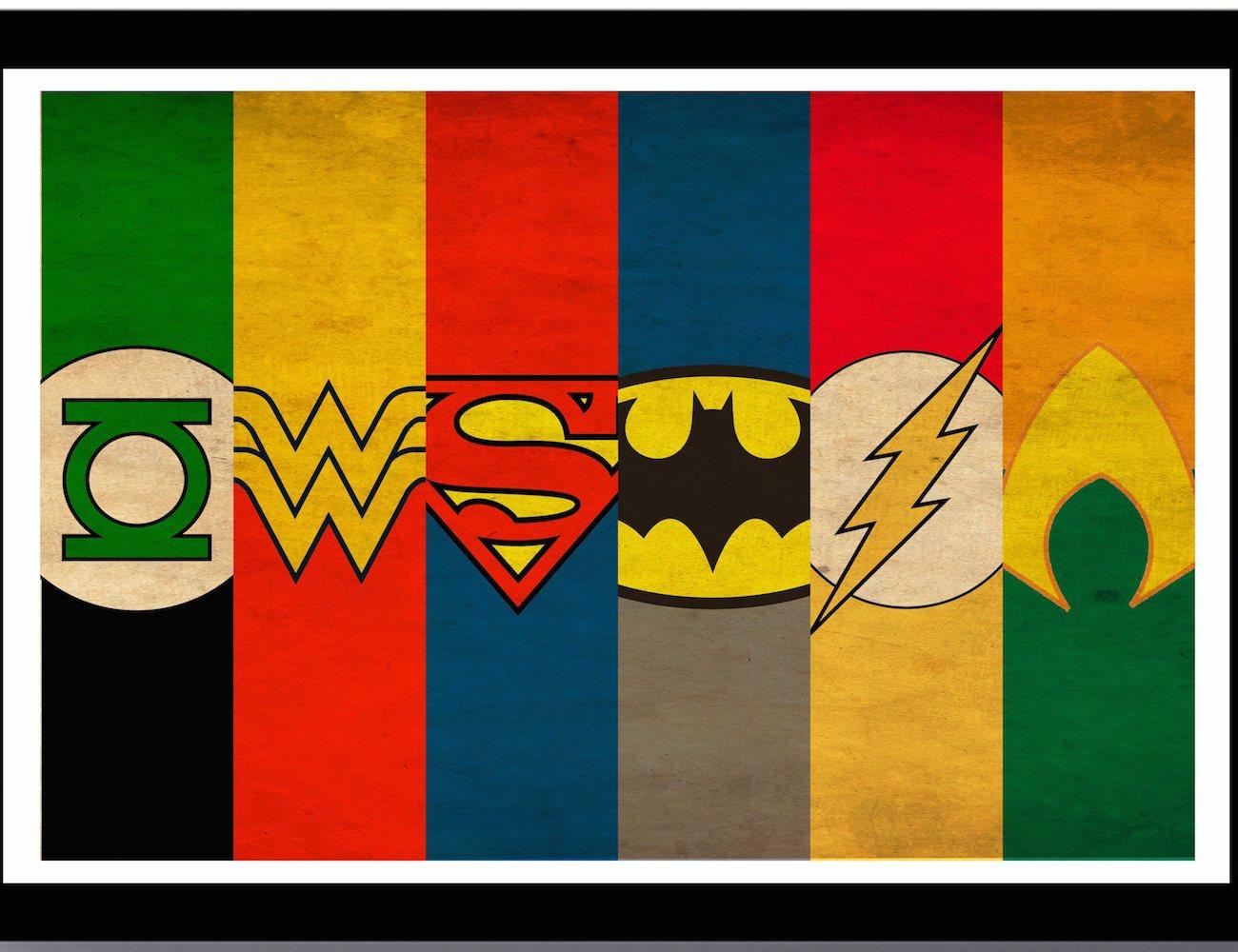 Justice League Minimalist Poster