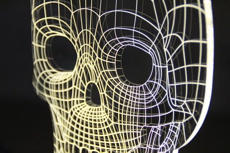 Light Skull by Bulbing – Crafted Using 3D Wire Frames