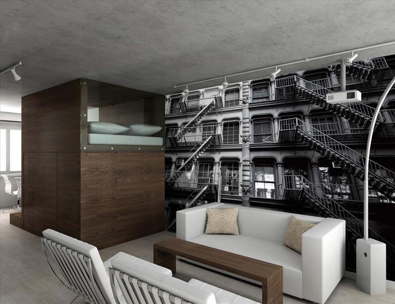 Amazing New York Apartment Block Wall Mural