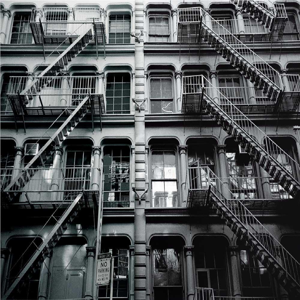 New York Apartment Block Wall Mural