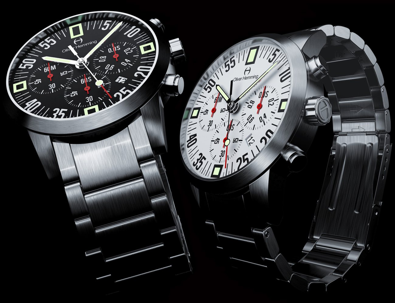 Oliver Hemming Stainless Steel Chronograph Series