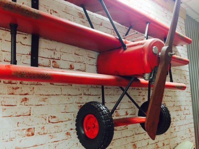Red Baron Airplane Wall Shelving