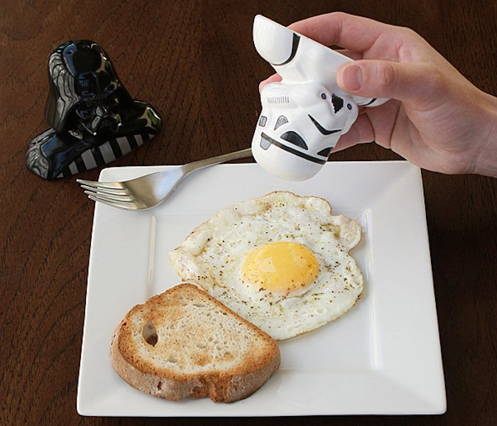 Give your salt and pepper shakers a sci-fi makeover.