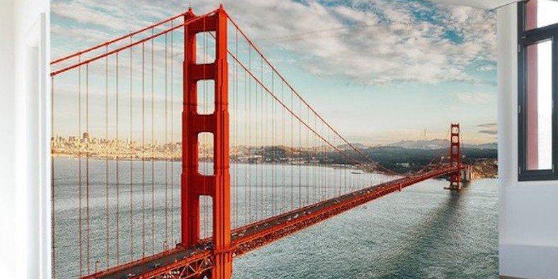 Golden Gate Bridge Wall Mural Decal