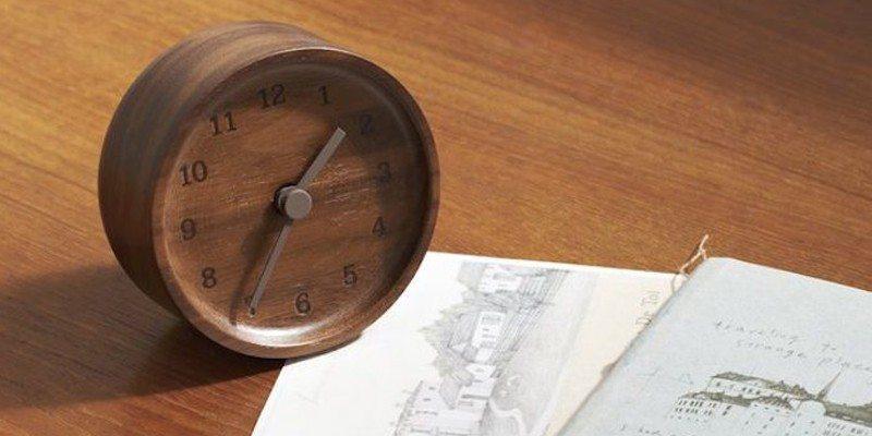 Lemnos Muku Wooden Desktop Clock