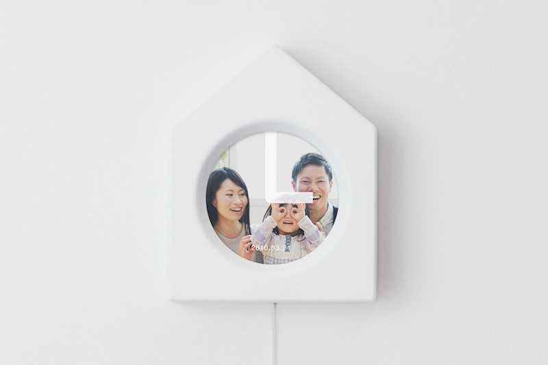 Memory Clock with house frame on wall