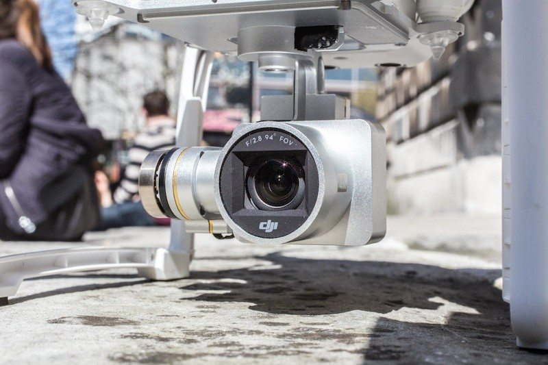 DJI Phantom 3 drone close up of camera