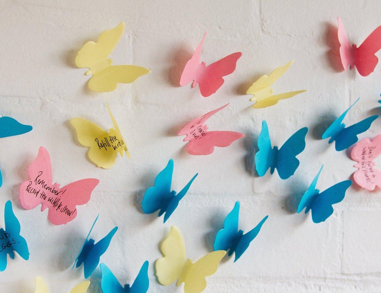 3D Butterfly Sticky Notes