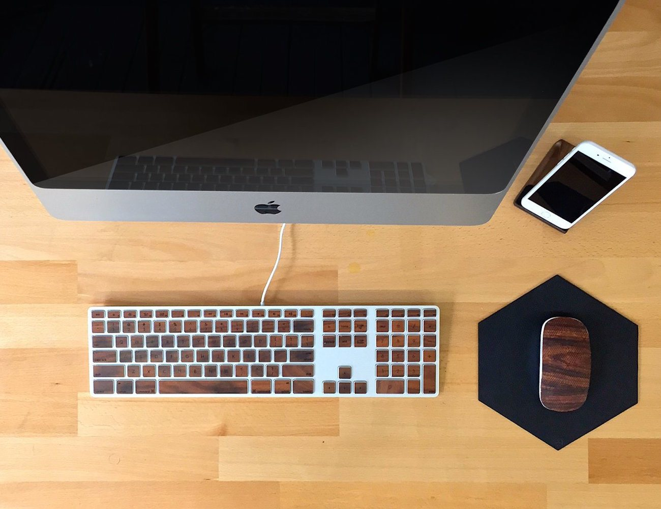 Apple Keyboard Wooden Keys