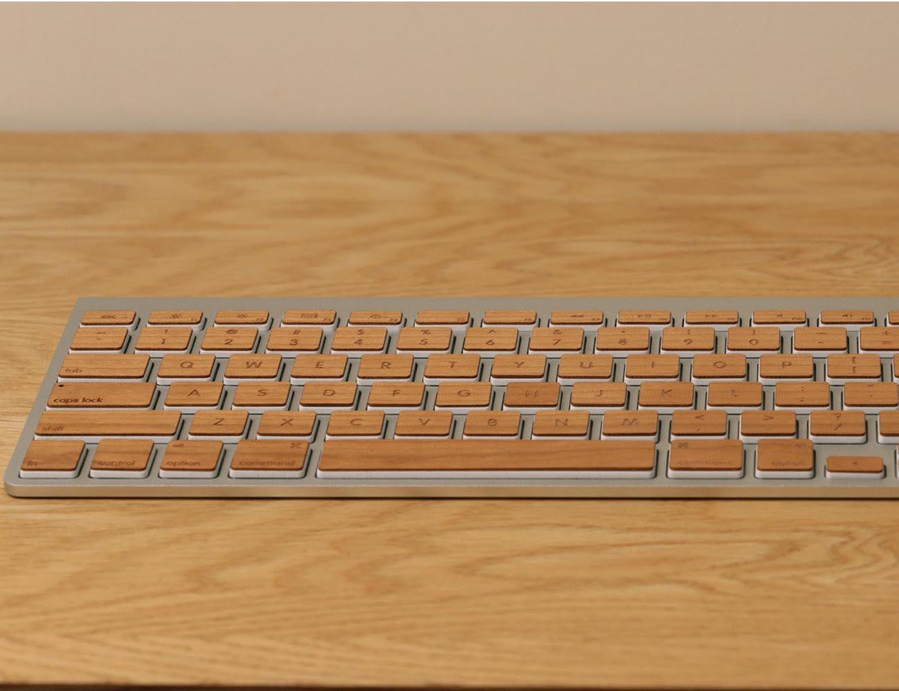 Apple Keyboard Wooden Keys