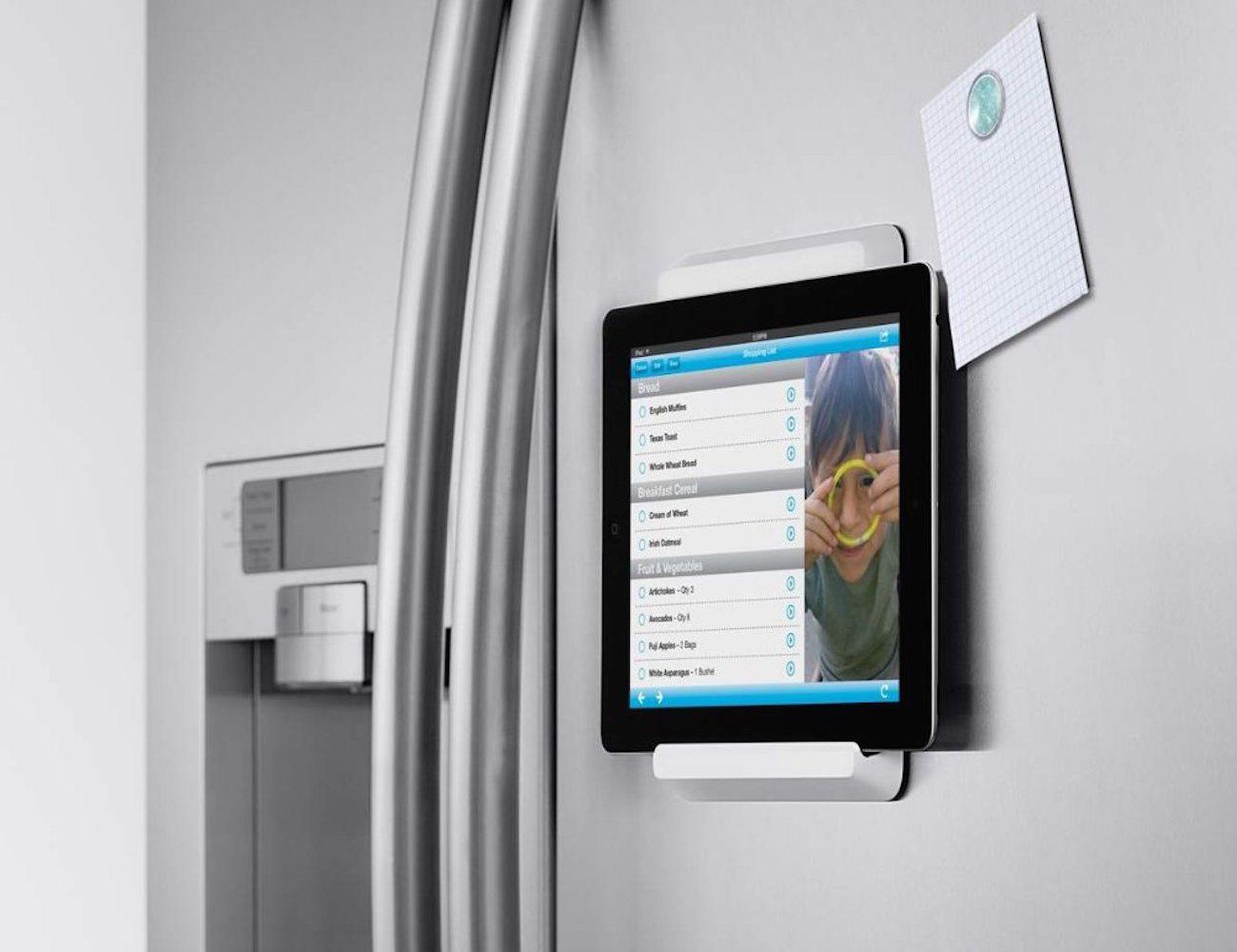 Belkin fridge mount for ipad gadget flow - Porte tablette cuisine ...