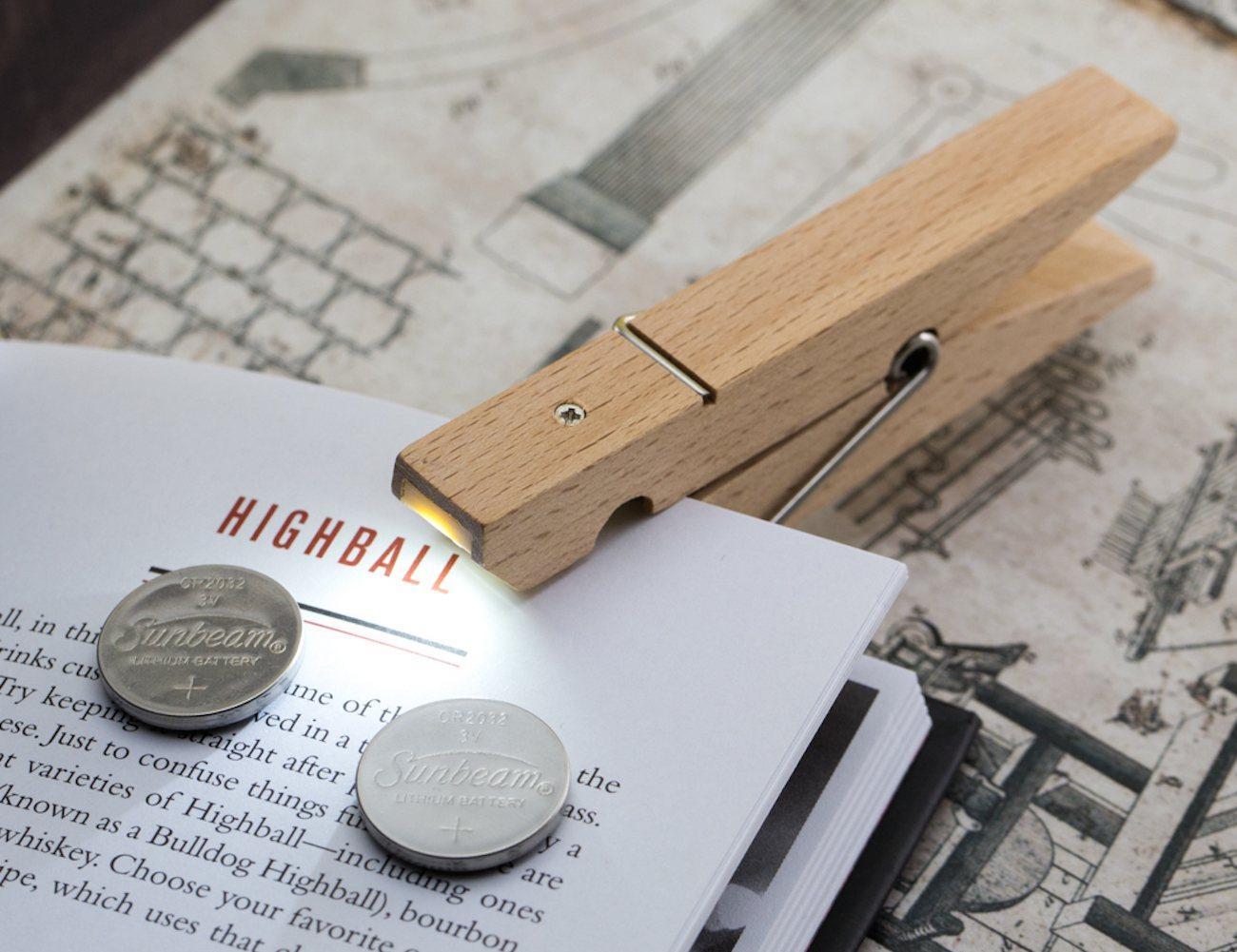 clothespin clip light gadget flow. Black Bedroom Furniture Sets. Home Design Ideas