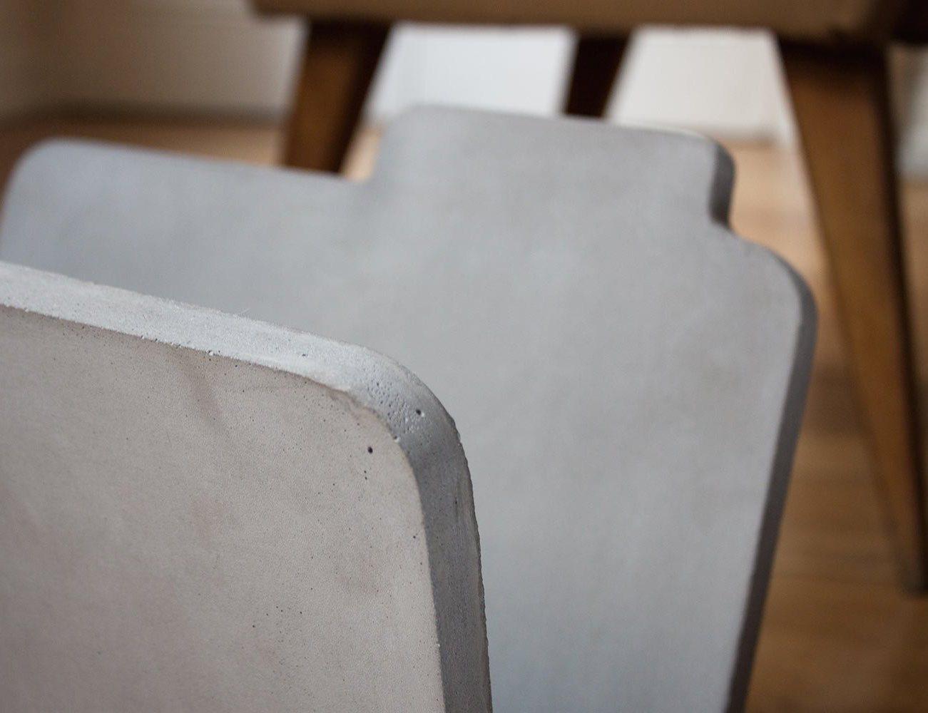 Concrete Magazine Rack by Bertrand Jayr