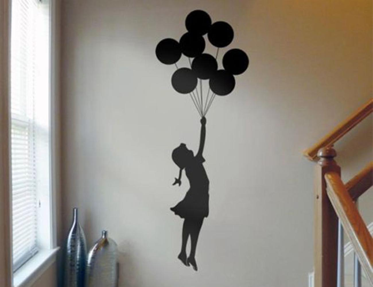 Simple  Floating Balloon Wall Sticker u Displaying the Exquisite Banksy Art