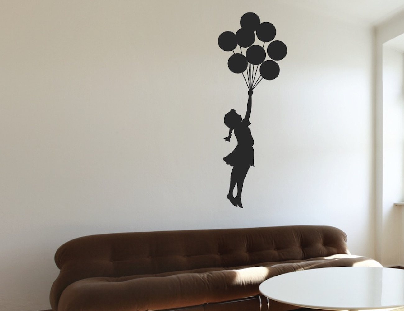 Floating Balloon Wall Sticker – Displaying the Exquisite Banksy Art