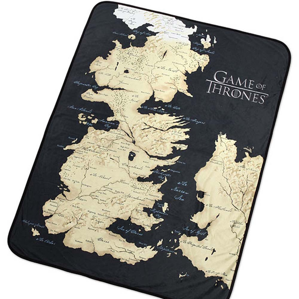 Game of Thrones Map of Westeros Fleece Blanket Game Of Thronrs Map on