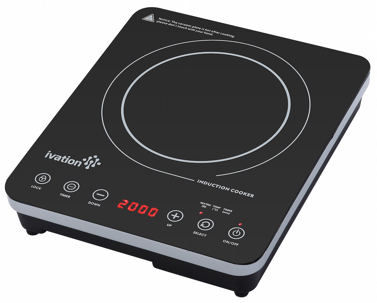 Heating Induction Cook Tops ~ Ivation watt portable induction countertop cooktop