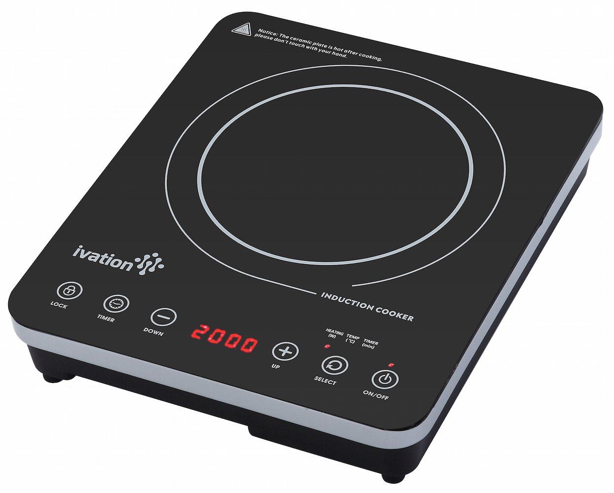 Ivation 1800 Watt Portable Induction Countertop Cooktop Burner