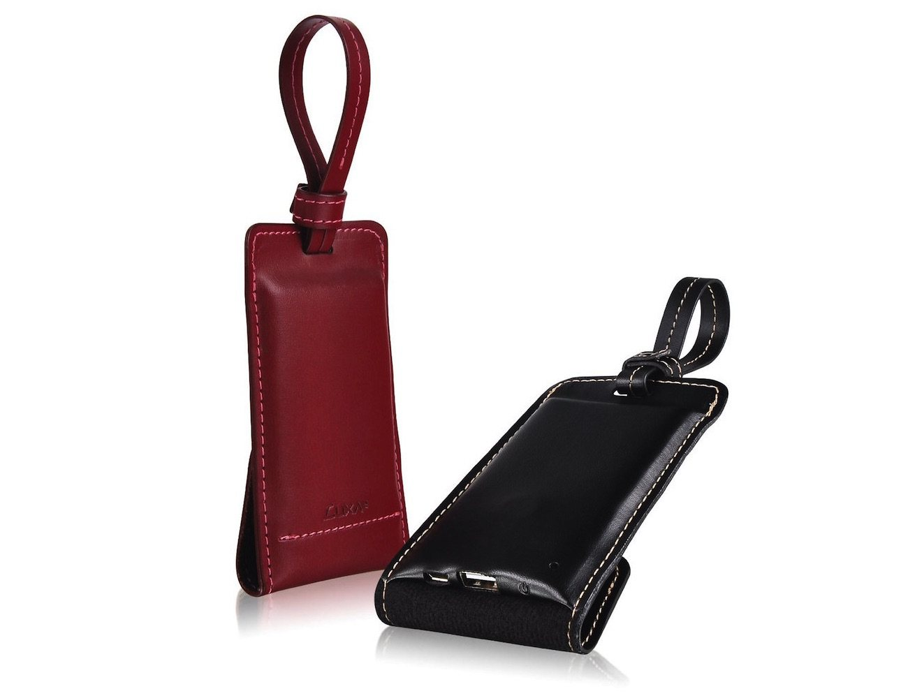 Leather Bag Tag Battery Power Pack