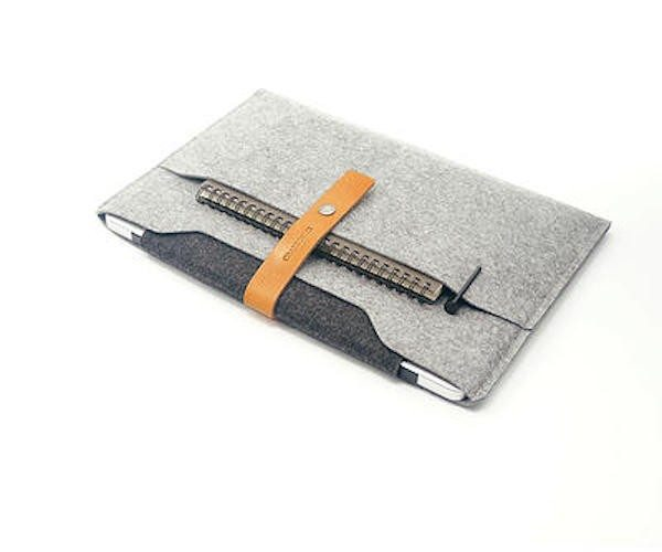 Leather & Wool Felt MacBook Sleeve