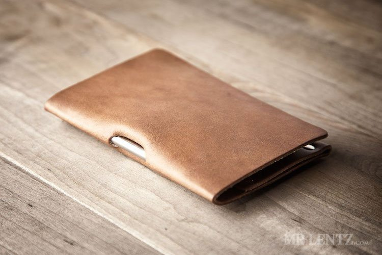 Mini Notebook Cover – Leather Cover and Pen by Mr. Lentz loading=