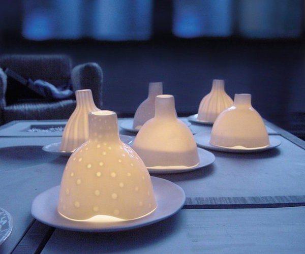 Night Igloo – White Matte Porcelain Tealight