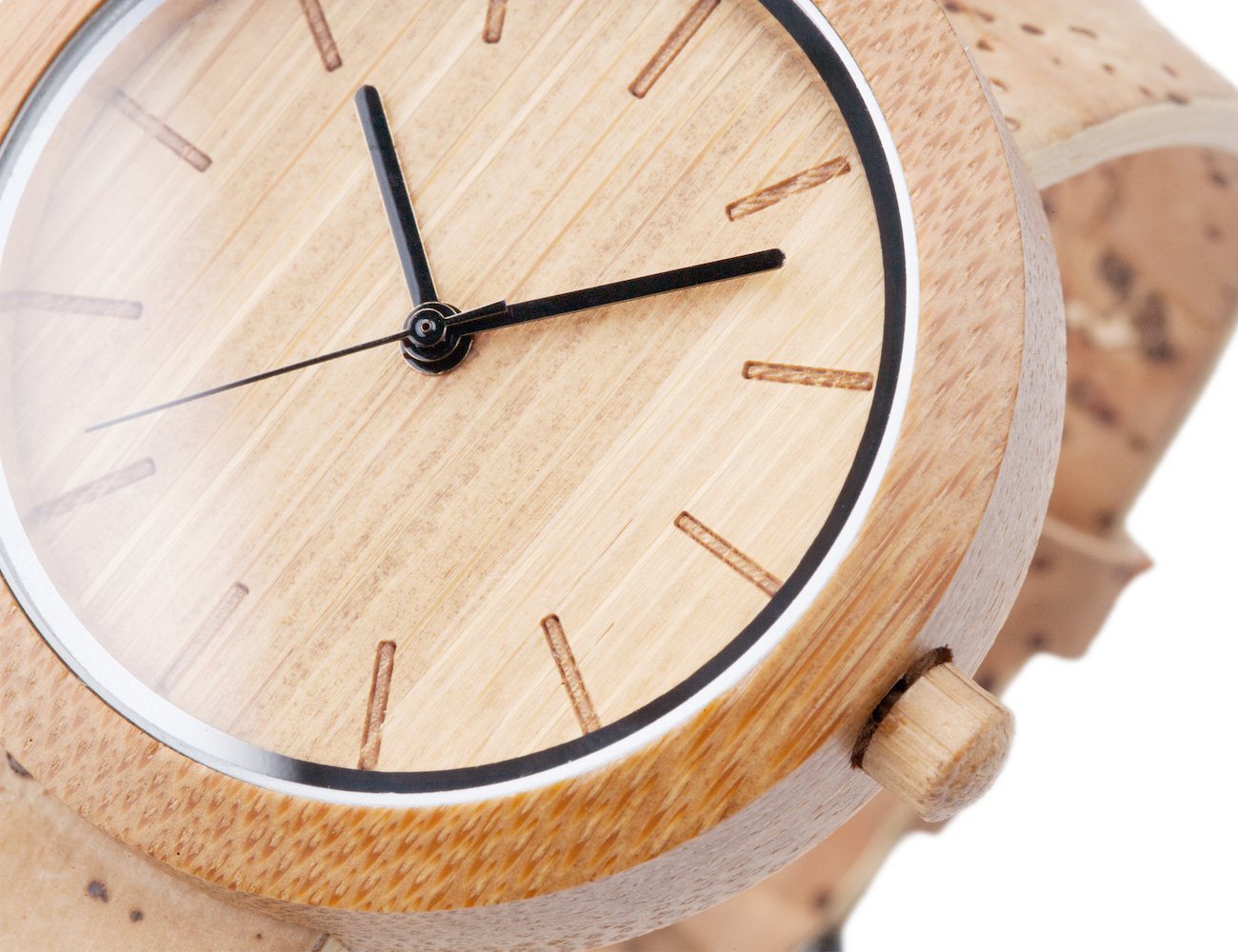 Panda Bamboo Watch with Cork Strap