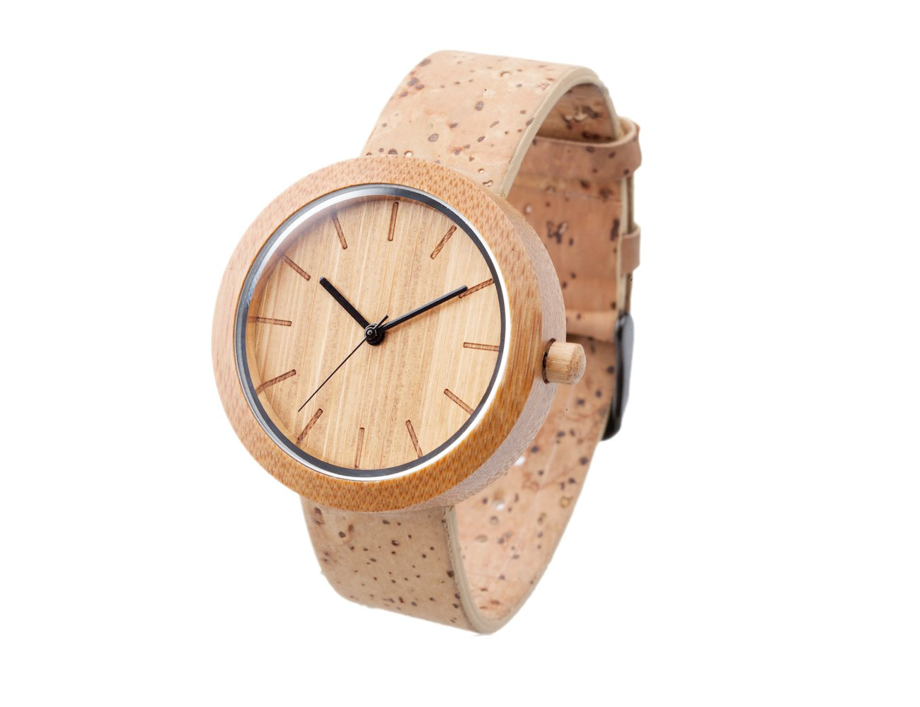 Panda Bamboo Watch with Cork Strap