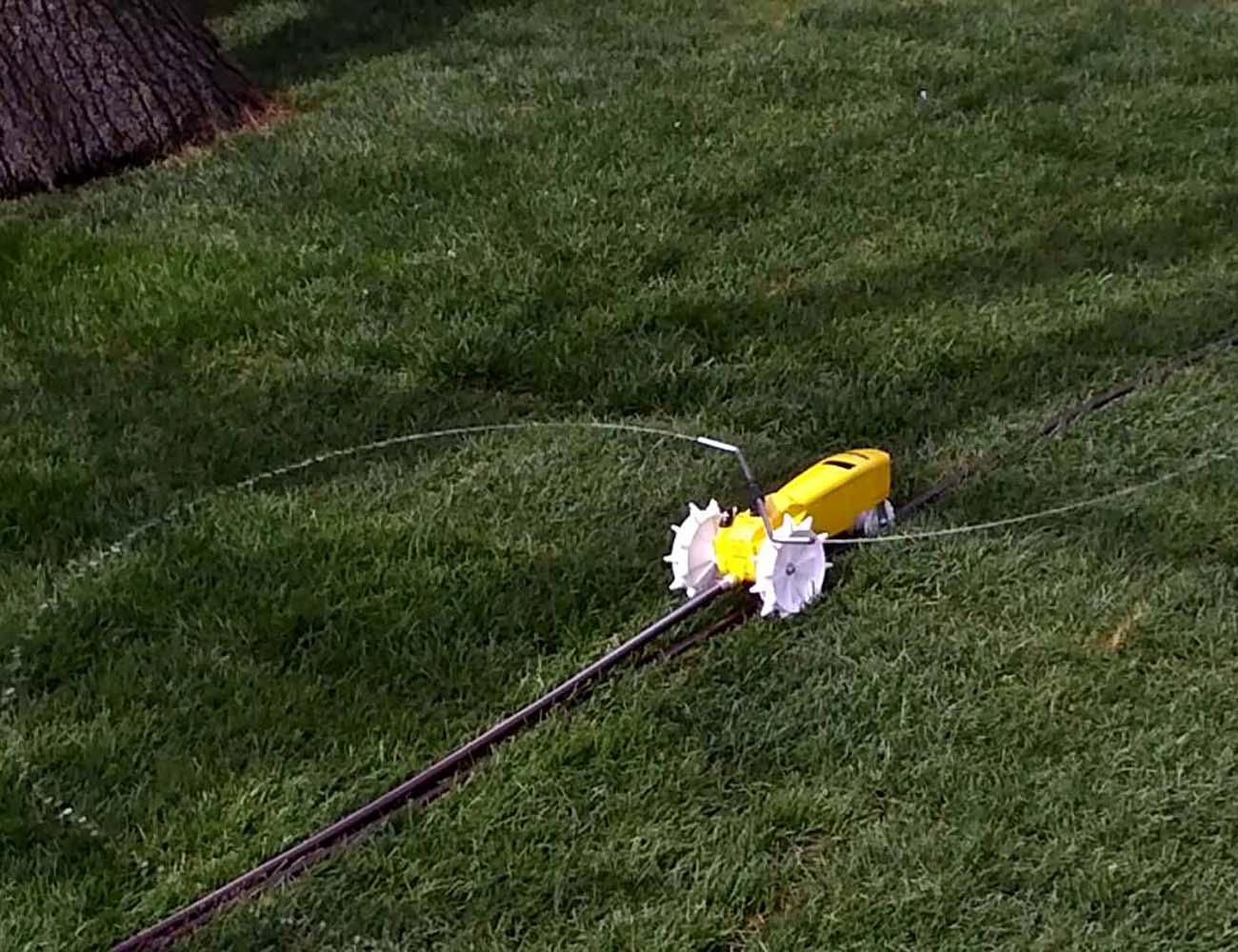 Raintrain+Traveling+Sprinkler+For+Your+Lawn