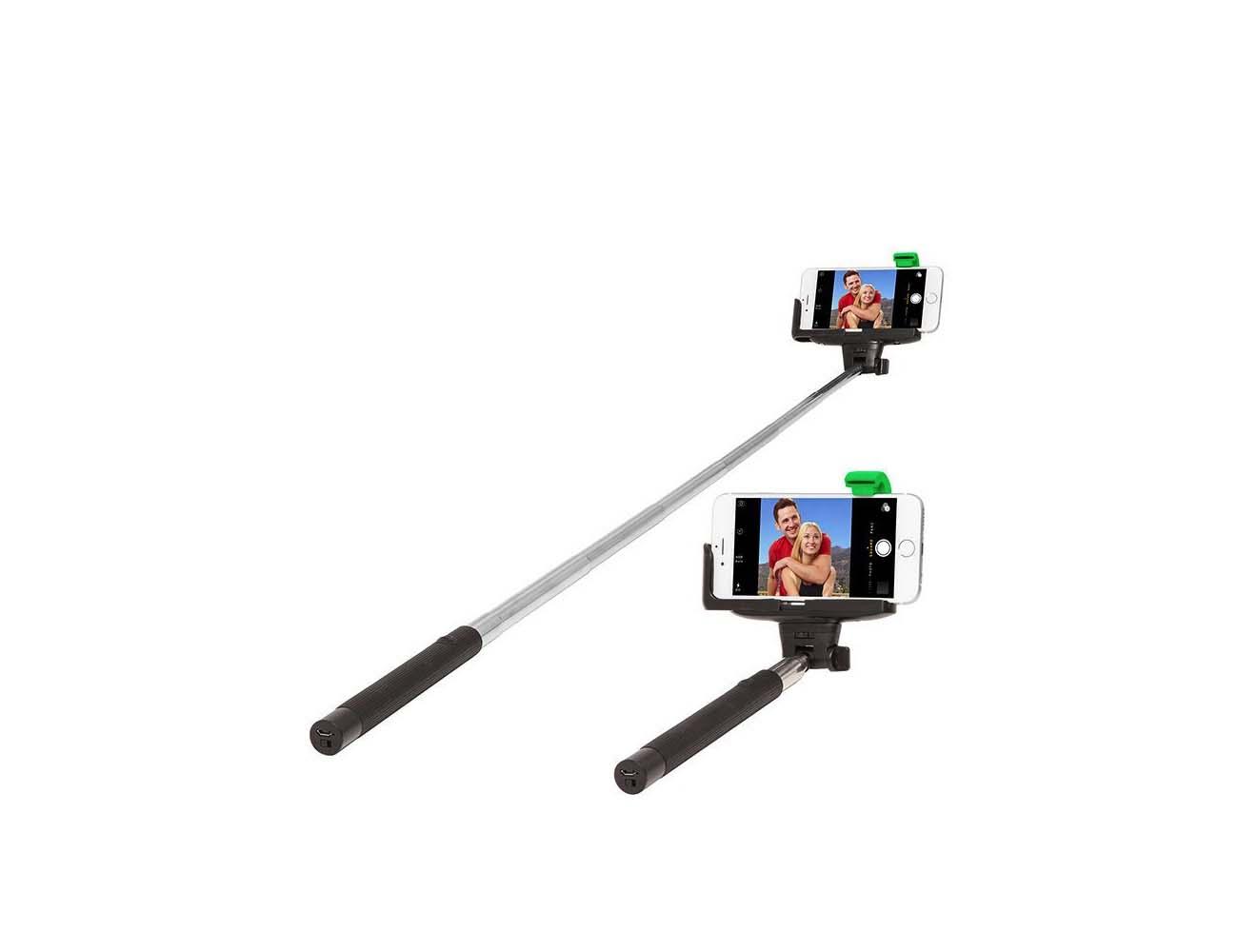 retrak selfie stick with bluetooth enabled shutter gadget flow. Black Bedroom Furniture Sets. Home Design Ideas